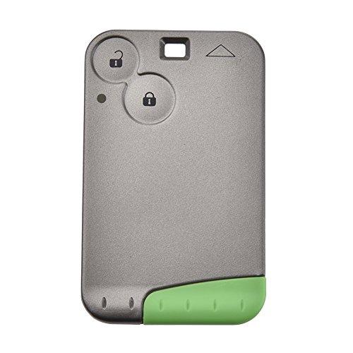 Llave remota de coche inteligente de 2 botones 433 MHz para Renault Laguna Espace tarjeta con chip PCF 7947 y llave de emergencia (1 unidad)