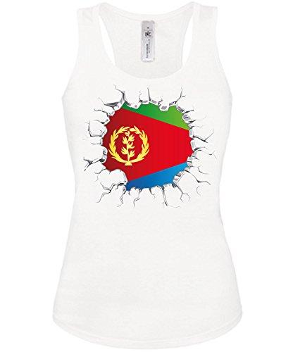 Golebros Eritrea Fussball Fußball Trikot Look Jersey Fanshirt Damen Frauen Mädchen Tank Top Tanktop Fan Fanartikel Outfit Bekleidung Oberteil Artikel
