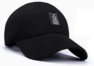 Summer Man Leisure cap Outdoor Baseball Caps Adjustable Hat Black