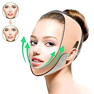 ZFKJERS Facial Slimming Strap, Face Pain-Free Shaper Band, Double Chin Reducer Face Lifting Band for Women, Eliminates Sagging Skin Lifting Firming Anti Aging from ZFKJERS