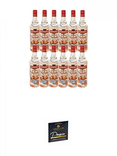 Rushkinoff Vodka & Caramello 12 x 1,0 Liter + Chateau du COQ Sekt Kondom 1er