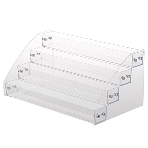 Nagellack Display Ständer, 6 Arten dauerhafte Nagellack Acryl klar Make-up Display-Ständer Rack-Organizer-Halter(Four Layers)