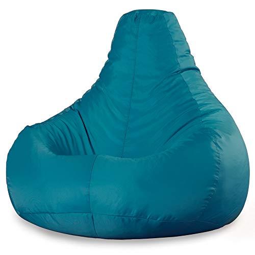 """Bean Bag Bazaar """"Designer Recliner"""", Blaugrün, Gaming-Sitzsack - 90cm x 73cm, Wasserabweisend, Gamer Sitzsäcke für den Innen- und Außenbereich, Wohnzimmer"""