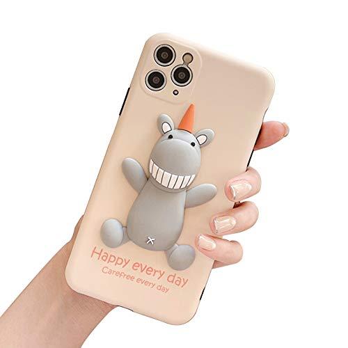 Funda de silicona para teléfono IPhone7plus/8plus/Xsmax, 3D Soft Monster Phone Case, un regalo para lindas niñas B-iPhone XS