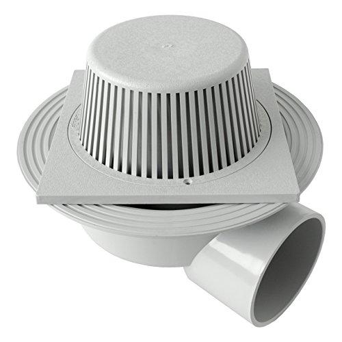 First Plast CHPVCPFBO2011G sifon, PVC, grijs, 200 x 200 mm