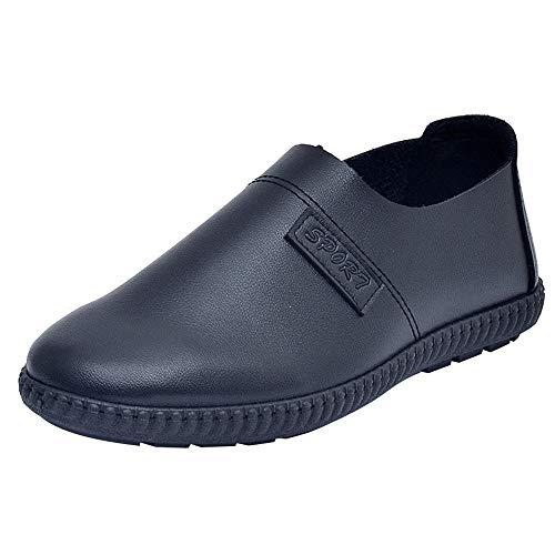 GongzhuMM Vintage Mocassins Homme Automne Hiver Chaussures de Ville d'affaires Chaussures en Cuir sans Lacets pour Hommes 39-42.5 EU