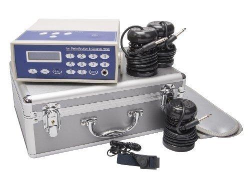chi-enterprise Detox Ion Cleanser Galvano-Set LZ-K603 I Hydro-galvanisches Therapiegerät im Alu-Koffer I Elektrolyse-Gerät Komplett-Set für Fußbad Handbad Ganzkörper-Bad I Hüftgurt Infrarot-Technik
