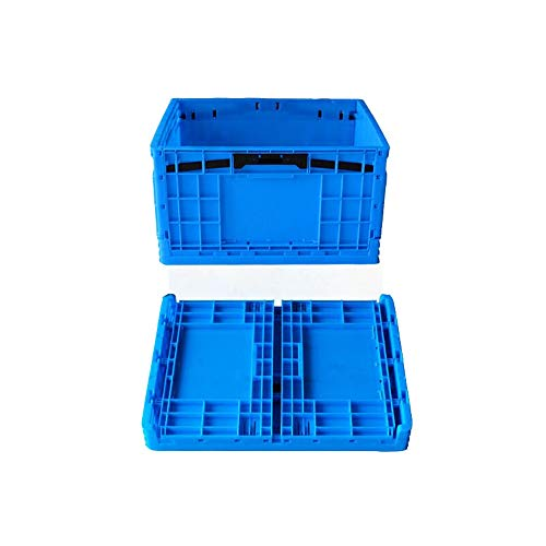 Qbylyf Cajas Plegables Profesionales 2pack Heavy Duty Plegable Y Apilable De Plástico...