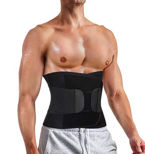Entrenador de cintura para hombre para pérdida de peso, control de barriga de compresión Shapewear Body Shaper Sweat Belt