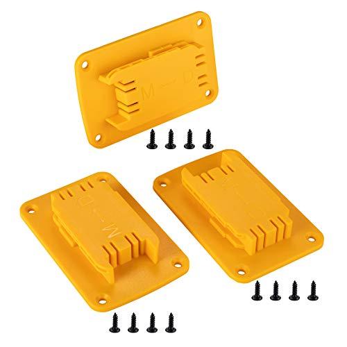 Crtbelfy 3 Packs Tool Mount for Dewalt 20V,12V Drill, Fit for Milwaukee M18 Tool Holder,Hanger (Yellow,Lot of 3)