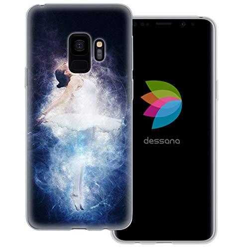dessana Ballet transparante beschermhoes mobiele telefoon case cover tas voor Samsung Galaxy S Note, Samsung Galaxy S9, Ballerina