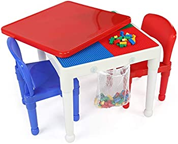 Humble Crew Building Blocks-Compatible Activity Table & 2 Chairs Set