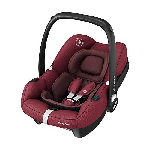 Maxi-Cosi Tinca i-Size Babyschale, sehr leichter Gruppe 0+ Autositz (nur 3,2kg), inkl. Sonnenschutz, nutzbar ab der Geburt bis zu 75 cm (0-12 kg), Essential Red, Rot