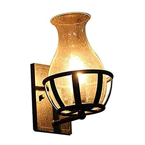 Lámpara de pared retro restaurante dormitorio lámpara mesita de noche almacén balcón luces de pared