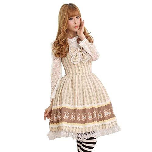 Frühling Sommer Herbst Winter Harajuku Lolita Princess Kleid-weiche Schwester Studentensozialtag Uniform Weibliche College-Art High-End-Tanzabschlussball-Frauen Elegante Lange Kleid Nette Süße Mädchen
