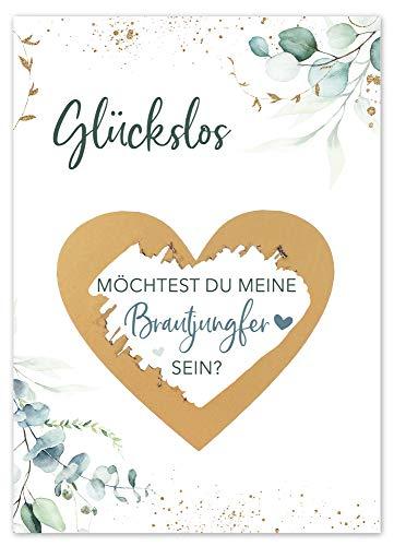 JoliCoon Rubbelkarte - Brautjungfer fragen - Willst du meine Brautjungfer sein