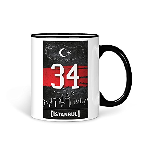 aina Tasse Kaffeetasse Türkei Istanbul 34 Türkiye Plaka V2