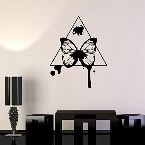 REGF Pegatinas de Pared de Mariposa calcomanía de Vinilo Triangular decoración del hogar extraíble Estilo de Arte Abstracto decoración de Dormitorio Mural para Sala de Estar