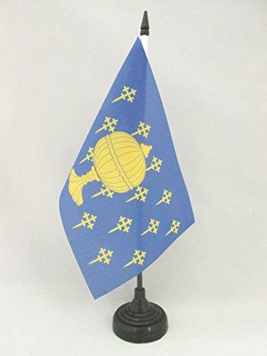 AZ FLAG Bandera de Mesa del Reino DE Galicia 409-1833 21x14cm - BANDERINA de DESPACHO GALLEGA Antigua 14 x 21 cm