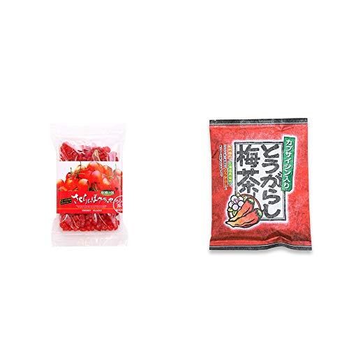 [2点セット] 収穫の朝 さくらんぼグラッセ ラム酒風味(180g)・とうがらし梅茶(24袋)
