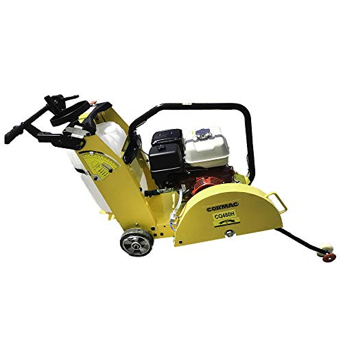 CORMAC CQ480H walk behind concrete floor saw max 20' blade gasoline engine GX390 and water tank INCLUDES 1 x 18' concrete blade