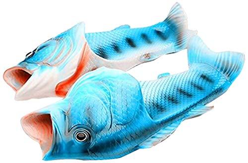 kelee Fisch Tier Hausschuhe Sommer Strand Sandalen Dusche Hausschuhe rutschfeste Strand Schuhe Tragen für Frauen Männer und Kinder Casual Schuh, Blau, 46/47