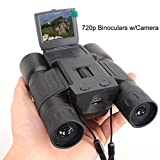 WYLOKEN Prismáticos con zoom digital 12x32 para exteriores, cámara de vídeo, telescopio...