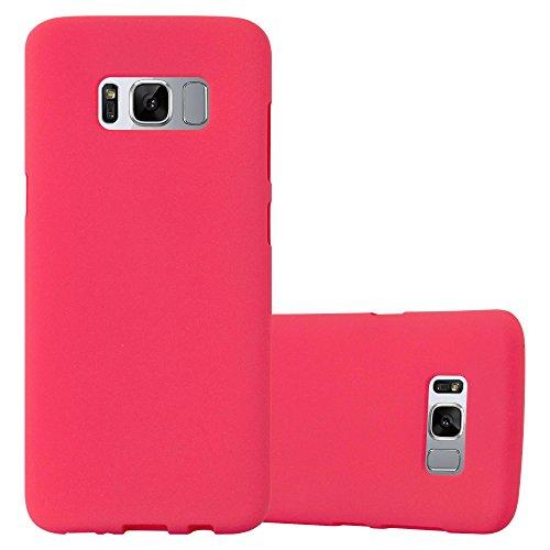 Preisvergleich Produktbild Cadorabo Hülle für Samsung Galaxy S8 Plus in Frost ROT - Handyhülle aus flexiblem TPU Silikon - Silikonhülle Schutzhülle Ultra Slim Soft Back Cover Case Bumper