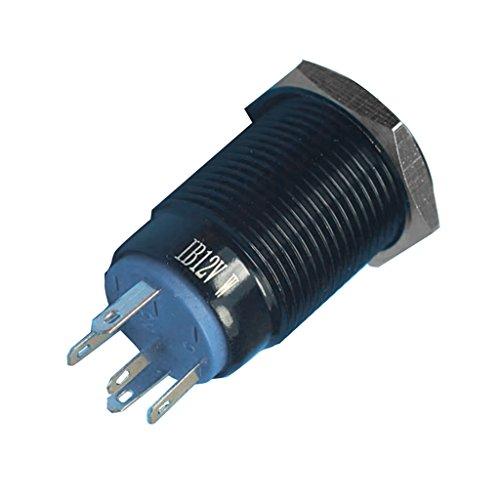 #N/a Impermeable 3 A 250 V Botón LED momentáneo 16 mm Push Button Coche Barco Rele - Blanco