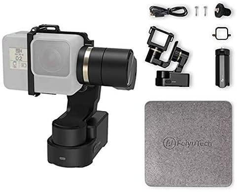 Feiyutech WG2X | Cardán Impermeable portátil de 3 Ejes Video Manos Libres portátil con Vista panorámica de 360 Grados Ideal para Viajes, Vlogs y edición de Video.