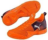 Puma Rise XT 4JR Chaussures de handball pour enfant Orange, Shocking Orange-Shadow Purple-Puma White, 38 (UK 5)