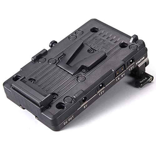 TILTA TA-BTP2-V-G V-Mount Battery Plate for BMPCC 4K Kamera Käfig Blackmagic Pocket Cinema Camera 4K Cage Rig (V-Mount Battery Plate)