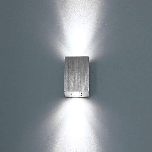 LIGHTESS 6W Lampada da Parete a LED Interno Moderno, Applique da Parete in Alluminio per Decorazione Soggiorno Camera da Letto Corridoio