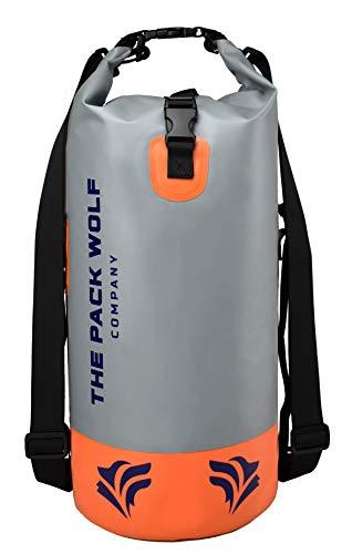The Pack Wolf Company Premium Waterproof Dry Bag 20L Backpack Adjustable Shoulder Straps