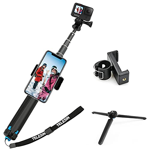 AFAITH Waterproof Pole for GoPro, Aluminum Alloy GoPro Selfie Stick