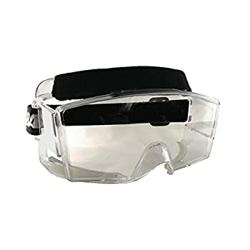 Bangerz HS-OTG Googles Protective Eyeguard Anti-Fog Over The Glasses Safety Goggles for High Impact Sports - Basketball Lacrosse Floor Hockey Racquetball | Crystal Clear with Wide Vision