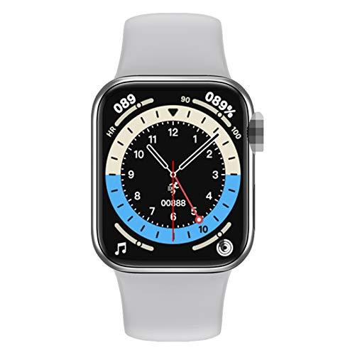 XYZK M16 Plus Smart Watch Teléfono 1.75 Pulgadas 44Mm Correa 3D Dinámico UI Bluetooth Llamada Música Música Monitoreo De Ritmo Cardíaco Teléfono Pulsera Deportiva Inteligente para Android iOS,E