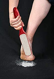 Probelle 2 Sided Callus Remover, Hypoallergenic Foot Peel in Foot Spa Quality, Premium Nickel Foot Scrubber and Foot File - Red