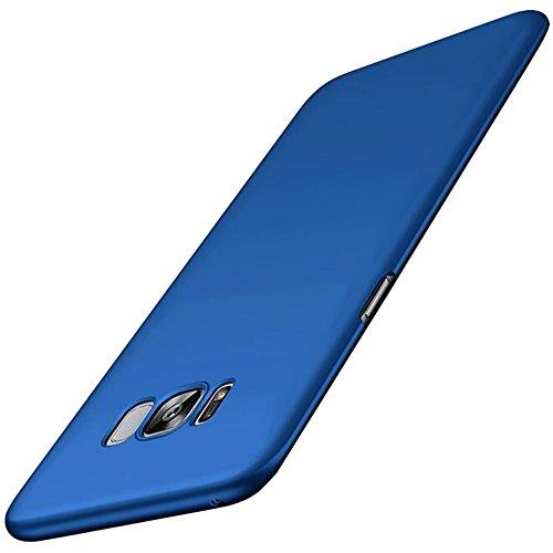 VELLYOU [2-en-1 Funda Samsung Galaxy S7 Edge + Regalos [3D Full Coverage HD Protector de Pantalla], Mate Carcasa para Samsung S7 Edge, 5.5', Azul