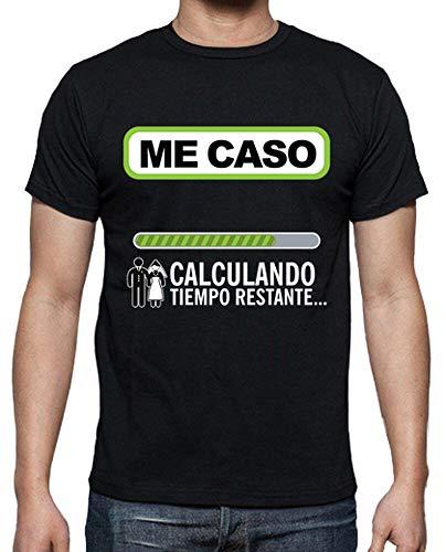 latostadora - Camiseta Despedida de Soltero para Hombre Negro L