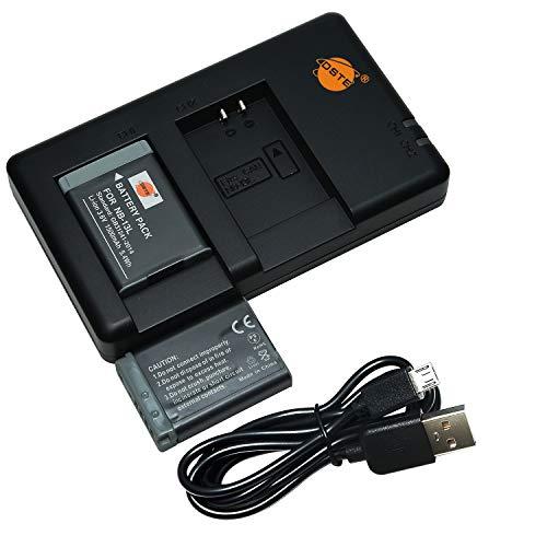 DSTE 2PCS NB-13L(1500mAh/3.6V) Batería Cargador Compatible para Canon PowerShot SX740 HS,PowerShot G5X,G7X,G9X,G5X Mark II,G7X Mark II,G9X Mark II,SX720 HS,SX620 HS Digital Cámara