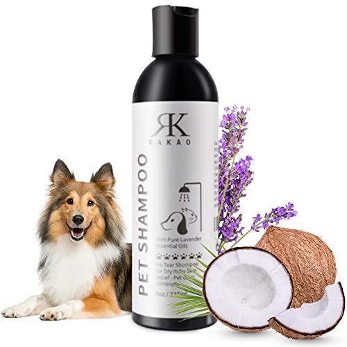 RK RAKAO Premium Hundeshampoo - Dog Shampoo - Hunde Shampoo Fellpflege - Hundepflege - Hundeshampoo Welpen - empfindliche Haut und Fell - Hundeshampoo langhaar - gegen Juckreiz - Trockenshampoo Hunde