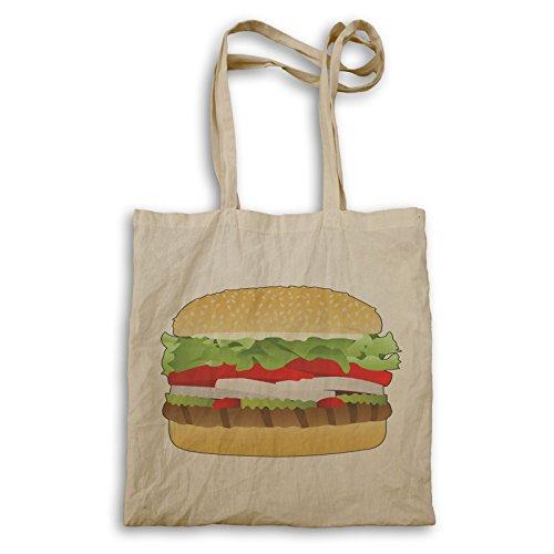 Käse Burger Essen Lecker Tragetasche p123r