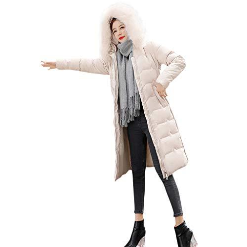 Down Jacket Hooded Warm POPLY Doudoune Longue Femme Noir sous Doudoune Fine Femme Col en Peluche Chaude Pas Cher Manteaux Hiver Femme Outwear Veste Longue Down Coat for Women Capuche Coton Blouson