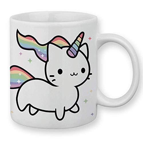 Chamalow Shop Tasse Caticorn, Katze Einhorn Regenbogen Chibi und Kawaii