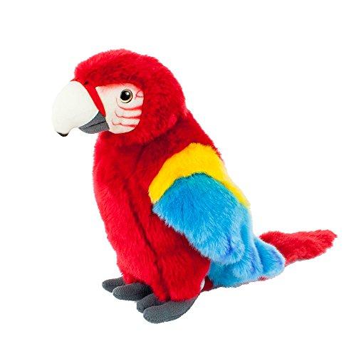 Teddys Rothenburg Kuscheltier Papagei stehend rot/blau/gelb 28 cm Plüschpapagei Plüschvogel