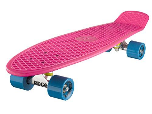 Ridge Retro 27 Skateboard, Unisex, Rosa/Azul, 69 cm