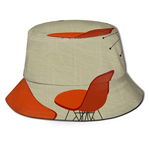 Out GuoAiYunShop 50S Stylin Retro Orange Sillas Cool Clock - Sombrero unisex...