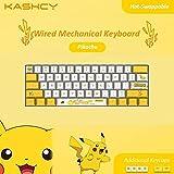 Yellow Pika Wired Mechanical Keyboard - K1061-Pikachu-W - Blue Switch
