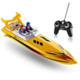 Top Race Remote Control Water Speed Boat, RC Boat for Kids, Perfect Toy